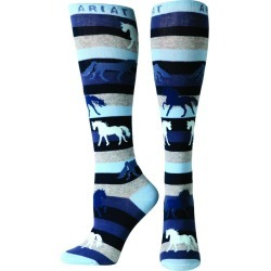 Ariat Ladies Lineage Horse Knee Sock found on Bargain Bro India from horseloverz.com for $9.89
