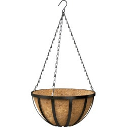 English Wide Band Hanging Basket With Coco Liner