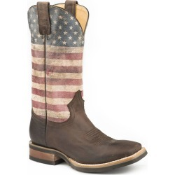 Roper Mens Americana Flag Square Toe Cowboy Boots found on Bargain Bro India from horseloverz.com for $193.99