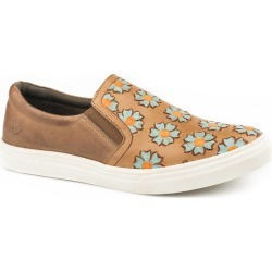 Roper Ladies Mane Daisies Slip On Leather Shoes found on Bargain Bro India from horseloverz.com for $66.69