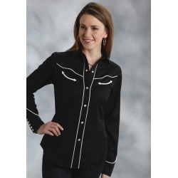 Roper Ladies Americana Flag Skull Long Sleeve Snap Shirt found on Bargain Bro India from horseloverz.com for $69.99