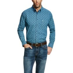 Ariat Men's Gavriel Long Sleeve Print - Mood Indigo found on Bargain Bro India from horseloverz.com for $21.19