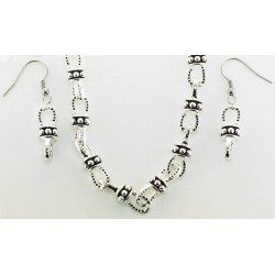 Western Edge Beaded Horseshoe Chain Earrings And Necklace Set