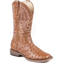 Roper Ladies Leopard Wide Square Toe Faux Leather Cowgirl Boots found on Bargain Bro India from horseloverz.com for $90.99
