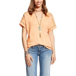 Ariat Ladies Joie Tee - Habanero Peach found on Bargain Bro India from horseloverz.com for $21.99