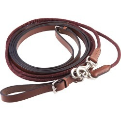 Henri de Rivel Rounded Nylon / Leather Snap Draw Reins found on Bargain Bro India from horseloverz.com for $31.99