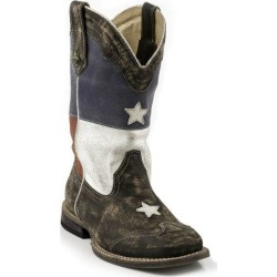 Roper Kids Texas Star Flag Square Toe Western Boots found on Bargain Bro India from horseloverz.com for $88.99