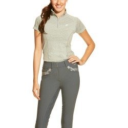 Ariat Ladies Odyssey Seamless Short Sleeve 1/4 Zip - Gray found on Bargain Bro India from horseloverz.com for $29.20