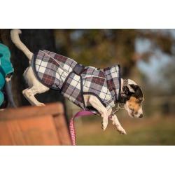 FITS Dog Coat - Navy/Red Plaid