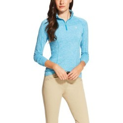 Ariat Ladies Odyssey Seamless Long Sleeve 1/4 Zip - Barrier Teal found on Bargain Bro India from horseloverz.com for $63.39
