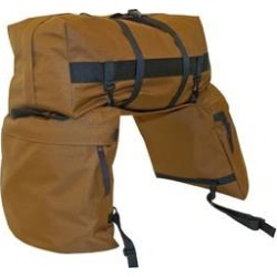 Large Saddle Bags with Detachable Cantle