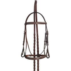 Collegiate Raised Fancy Stitched Padded Bridle