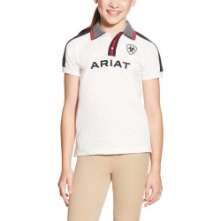 Ariat Kids FEI New Team Polo - White found on Bargain Bro India from horseloverz.com for $24.99