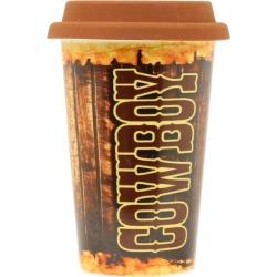 Western Moments Cowboy Ceramic Coffee Mug/Lid