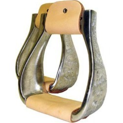 Coronet Aluminum Engraved Roping Stirrups found on Bargain Bro India from horseloverz.com for $58.99