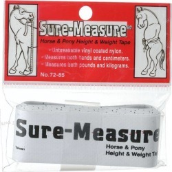 Tough-1 Sure Measure Horse and Pony Height and Weight Tape - 12 Pack