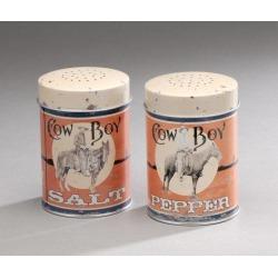 Cowboy Tin Salt & Pepper Set