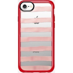 Casetify iPhone 7 Plus/7/6 Plus/6/5/5s/5c Case - Pastel Rose Stripes (transparent)