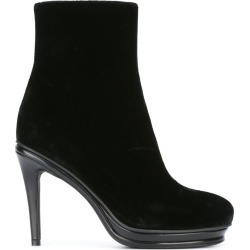 A.F.Vandevorst - ankle boots - women - Leather/Velvet - 37.5, Black, Leather/Velvet