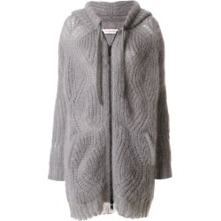 A.F.Vandevorst - zip up cardigan - women - Polyamide/Mohair/Wool - M, Grey, Polyamide/Mohair/Wool