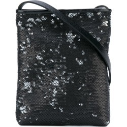 A.F.Vandevorst - sequins embellished shoulder bag - women - Leather/Polyester - One Size, Black, Leather/Polyester