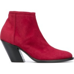 A.F.Vandevorst - side zip ankle boots - women - Goat Skin/Leather/Suede - 39.5, Red, Goat Skin/Leather/Suede