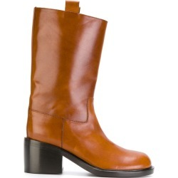 A.F.Vandevorst - heeled boots - women - Calf Leather/Leather - 36.5, Brown, Calf Leather/Leather