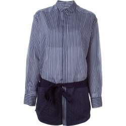 A.F.Vandevorst - '161 Caravan' shirt - women - Silk/Cotton - 38, Blue/Blue
