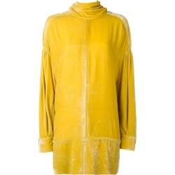 A.F.Vandevorst - oversized turtleneck top - women - Silk/Viscose - M, Yellow/Orange, Silk/Viscose