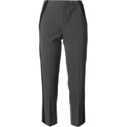 A.F.Vandevorst - trousers with side trim details - women - Polyester/Spandex/Elastane/Virgin Wool - S, Grey, Polyester/Spandex/Elastane/Virgin Wool