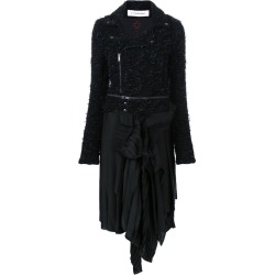 A.F.Vandevorst - biker-style dress - women - Viscose/Virgin Wool/other fibers - 40, Black, Viscose/Virgin Wool/other fibers