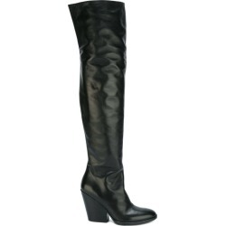 A.F.Vandevorst - block-heel tall boots - women - Goat Skin/Leather - 36, Black, Goat Skin/Leather