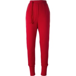 A.F.Vandevorst - 'Phone Call' track pants - women - Cotton - 36, Red, Cotton