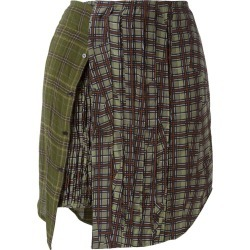 A.F.Vandevorst - multi patterned mini skirt - women - Wool/Virgin Wool - 34, Green, Wool/Virgin Wool