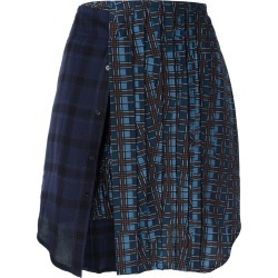 A.F.Vandevorst - 'School' skirt - women - Silk/Spandex/Elastane/Viscose/Wool - 38, Blue, Silk/Spandex/Elastane/Viscose/Wool