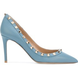 Valentino - Valentino Garavani Rockstud pumps - women - Leather - 39, Blue, Leather