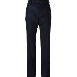 A.F.Vandevorst - pinstripe slim-fit trousers - women - Wool - 40, Blue, Wool