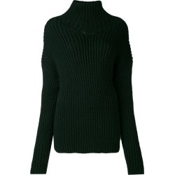 A.F.Vandevorst - chunky knit jumper - women - Acrylic/Alpaca/Virgin Wool - M, Green, Acrylic/Alpaca/Virgin Wool