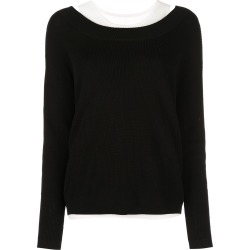 Barbara Bui v-neck layered jumper - Black found on MODAPINS from FarFetch.com- UK for USD $649.04