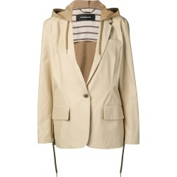 Barbara Bui hooded single-breasted blazer - Neutrals found on MODAPINS from FarFetch.com- UK for USD $1234.85