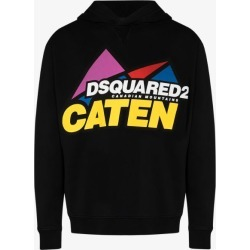 Dsquared2 Mens Black Graphic Caten Hoodie found on MODAPINS from Browns Fashion for USD $495.72