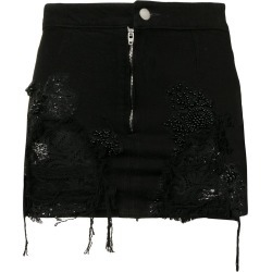 Almaz denim and lace mini skirt - Black found on MODAPINS from FarFetch.com- UK for USD $607.85