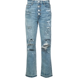 Amiri crystal studded straight jeans - Blue found on MODAPINS from FarFetch.com- UK for USD $1795.19