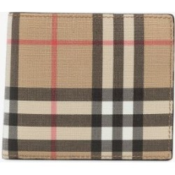 Burberry Mens Brown Vintage Check E-canvas Wallet With Id Card Case found on Bargain Bro UK from Browns Fashion
