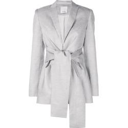 Acler tie front blazer - Grey found on MODAPINS from FARFETCH.COM Australia for USD $691.16