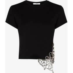 Area Womens Black Crystal Butterfly T-shirt found on MODAPINS from Browns Fashion for USD $404.40