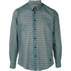 Vilebrequin geometric print shirt - Green found on Bargain Bro UK from FarFetch.com- UK