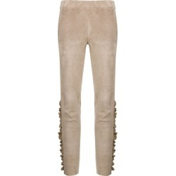 Arma ruffle trim suede leggings - Neutrals found on MODAPINS from FARFETCH.COM Australia for USD $820.41