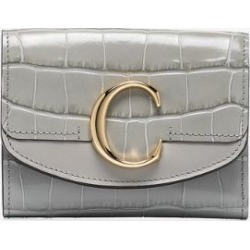 Chloé Womens Grey C Mock Croc Leather Wallet found on Bargain Bro UK from Browns Fashion