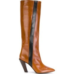 A.F.Vandevorst knee high boots with stripe - Brown found on MODAPINS from FarFetch.com- UK for USD $473.06
